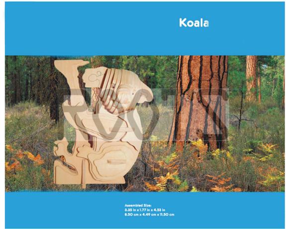 Koala-3D wooden puzzles, wooden construction kit,3d wooden models, 3d puzzle