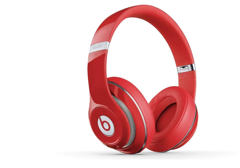 Beats Studio 2 wired Headphone, Black, red, White