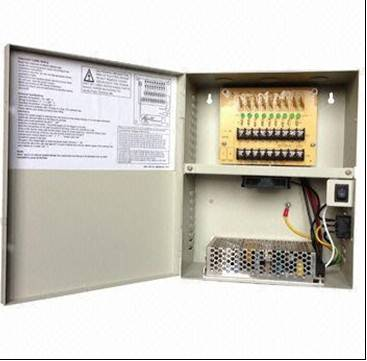 SVS CCTV Switching Power Supply Box with 10A for 9 video cameras