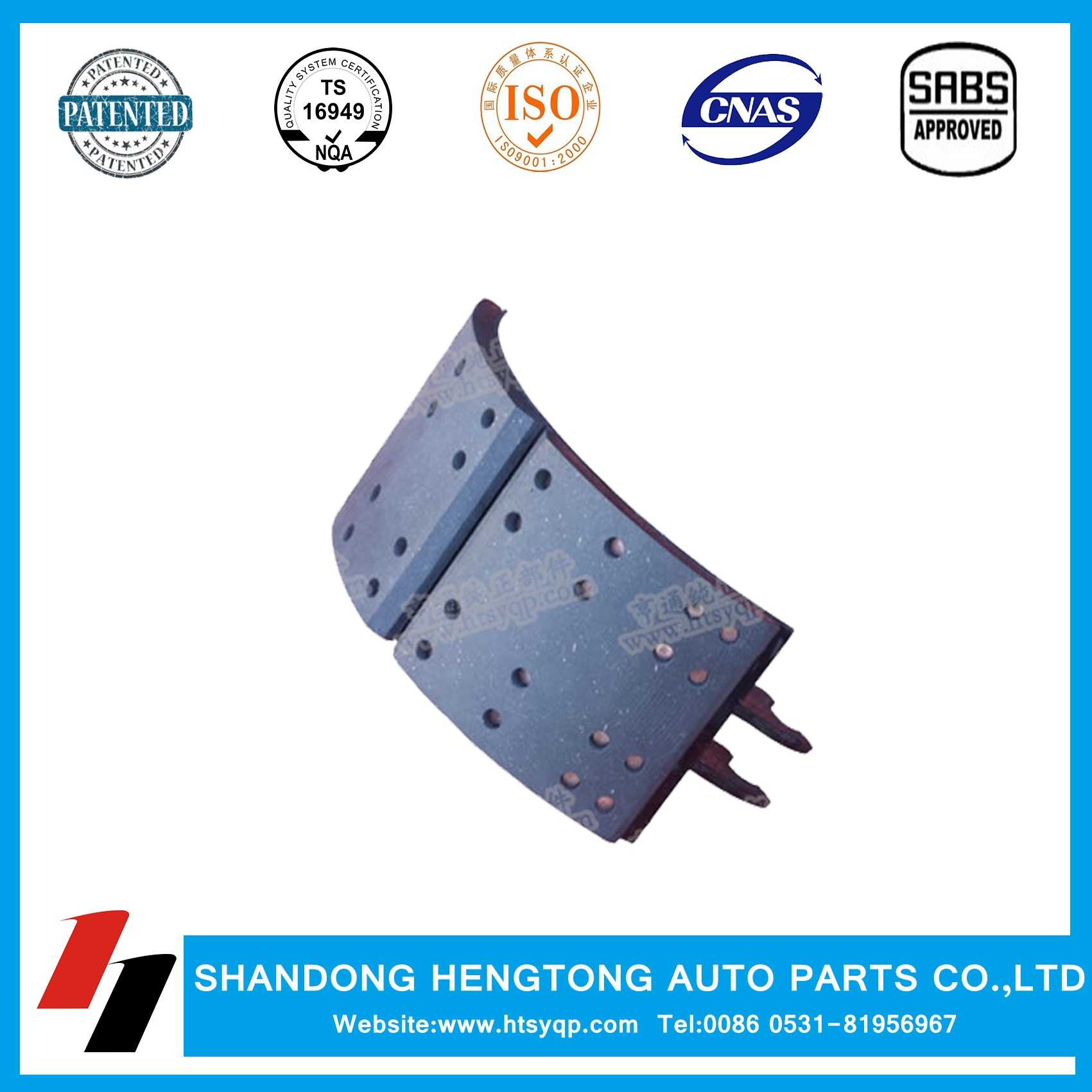 Brake shoe assemblies for heavy duty truck brake system