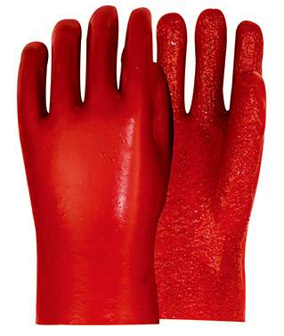 27cm pvc working safety gloves with terry on palm and fingers