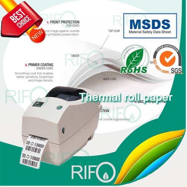 Thermal PP Synthetic Paper for Bar Code Printer with RoHS