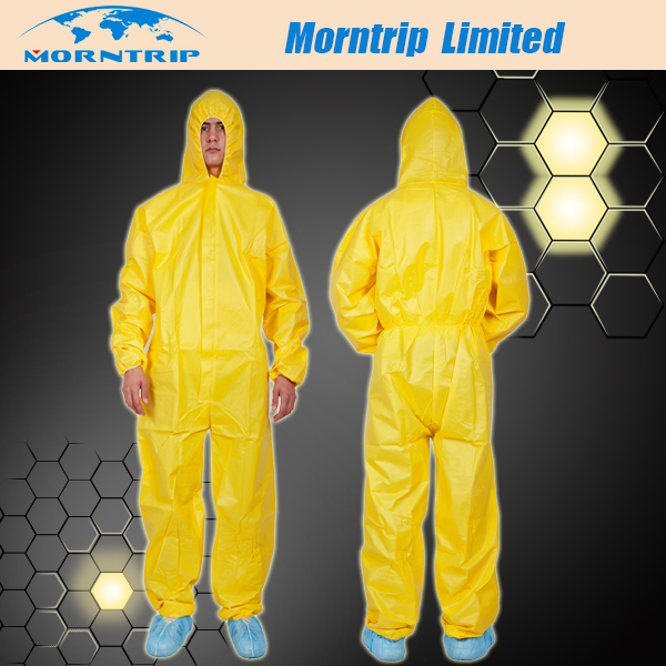 Industrial Use Yellow Disposable Coverall