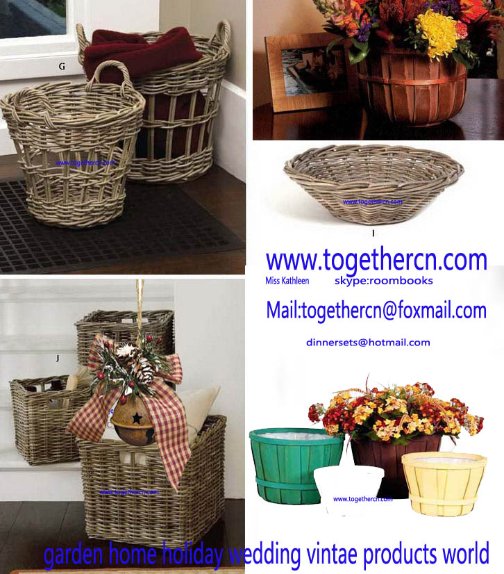wholesale gift rattan basket storage planter