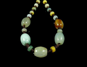 Barrel Beads Jade Jadeite Necklace