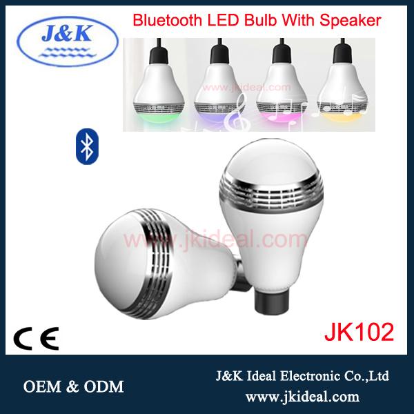 Bluetooth 5w E27 RGB led Light Speaker Bulb For Christmas
