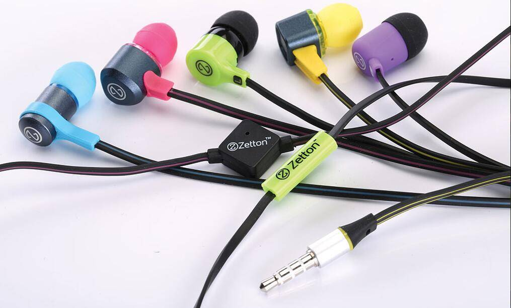 candy color zetton  In-ear Headset Barrel with wonderful sound effect and beautiful music