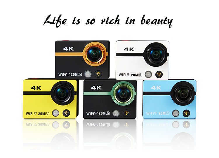 4K time lapse wifi remote 40m waterproof outdoor sports camera sj6000