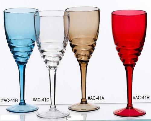 Acrylic Wine Glass, Swirl