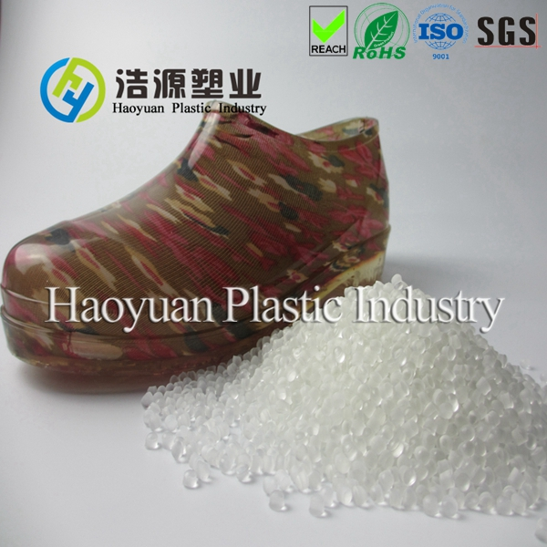 Transparent PVC granules for waterproof shoes