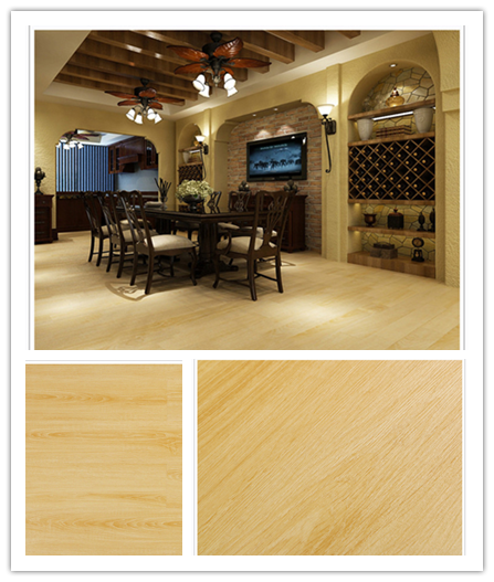 PVC floor tiles with modular flexibility unique design realism wooden effect durability