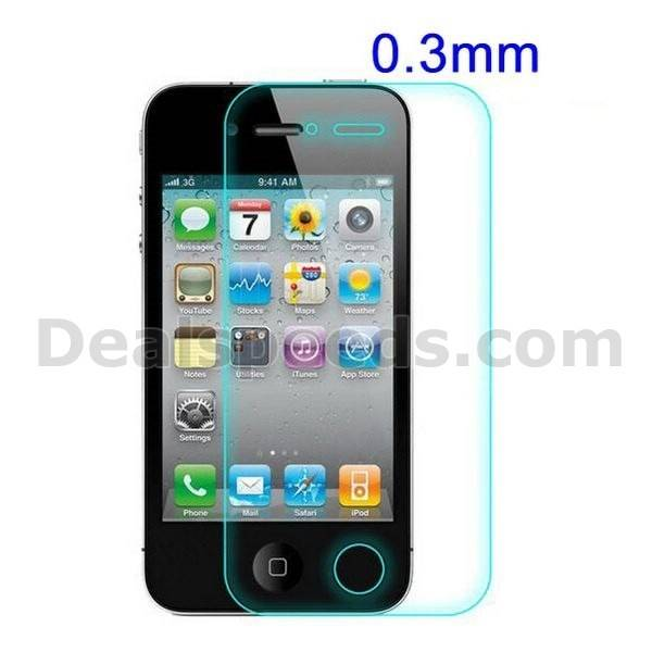 0.3mm Tempered Glass Screen Protector Flim for iPhone 4 4S - MOQ 5 Pieces