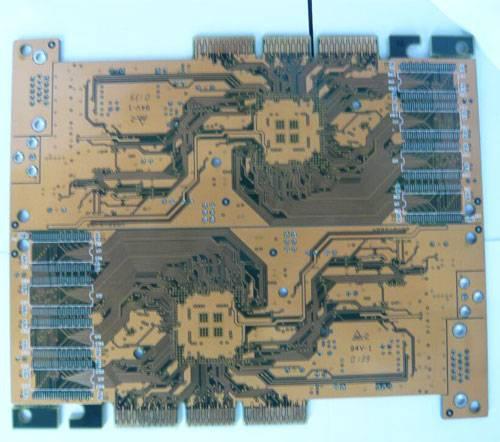 Four-layers PCB, ENIG, FR4-1.6, gold finger