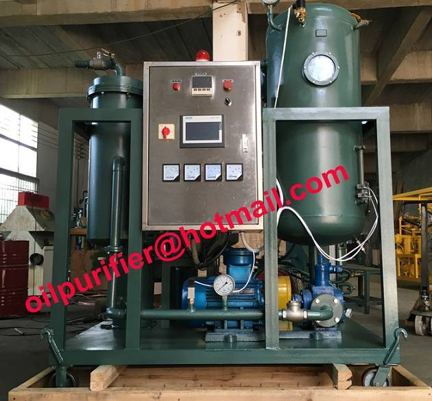 portable PLC vacuum turbine oil conditioner unit,turbine oil recondition plant with Stainless Steel