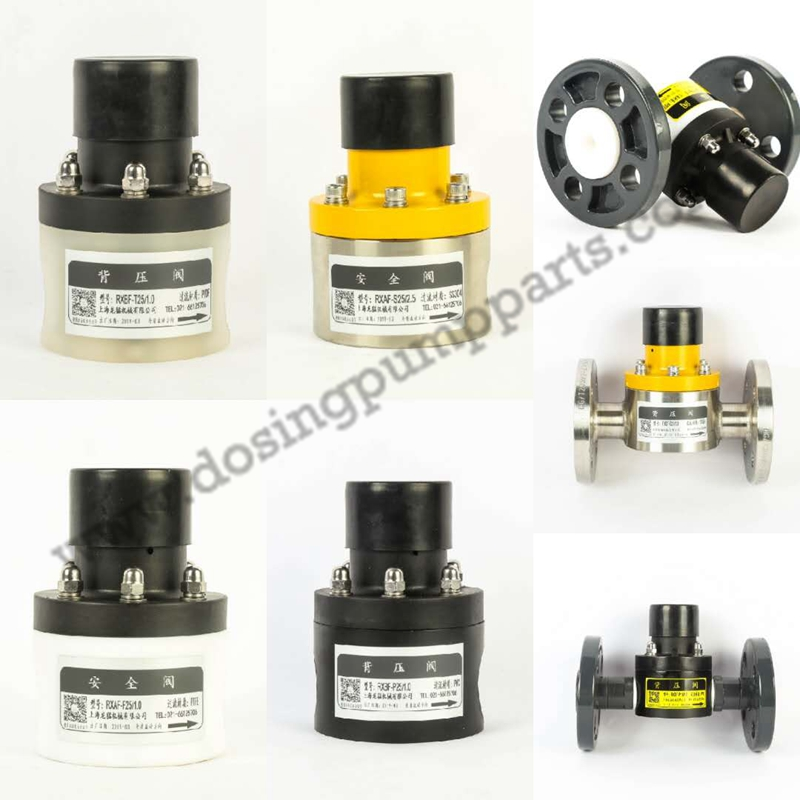 Stainless Steel/PVDF/PVC Safety Valve for dosing pump