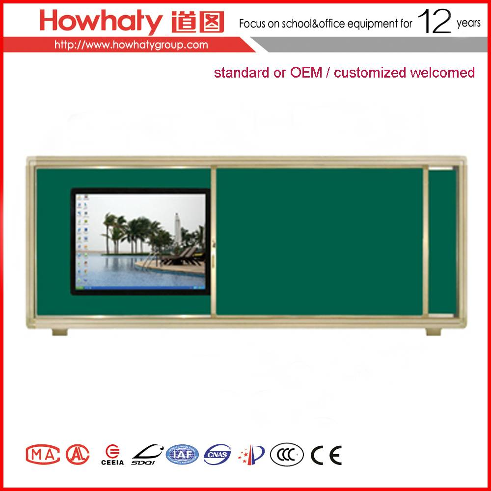 sliding electromagnic interactive whiteboard