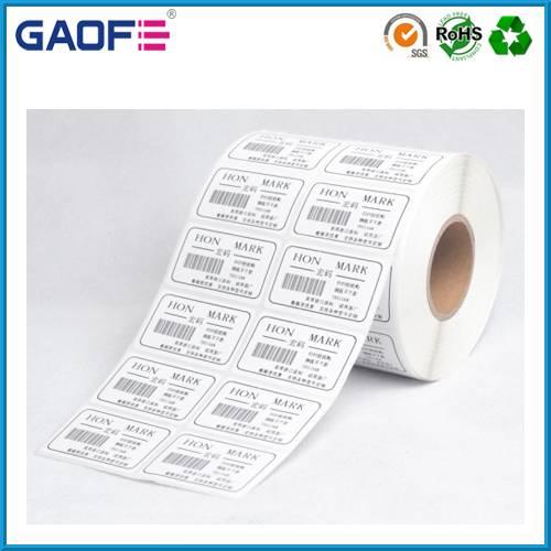 custom printed label sticker roll, self adheisve lalbel manufacturer, die cut product barcode labels