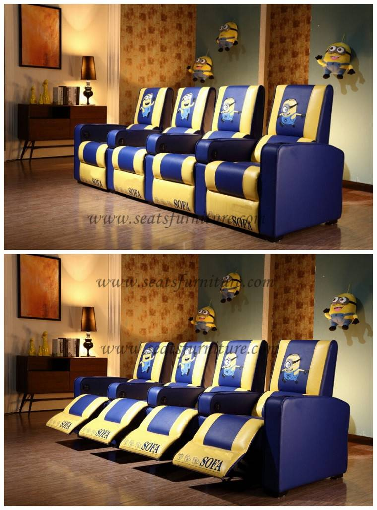 movie recliner chairs with USB charges LS-803
