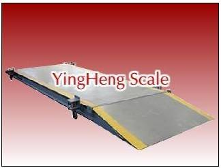 Movable electronic truck scale