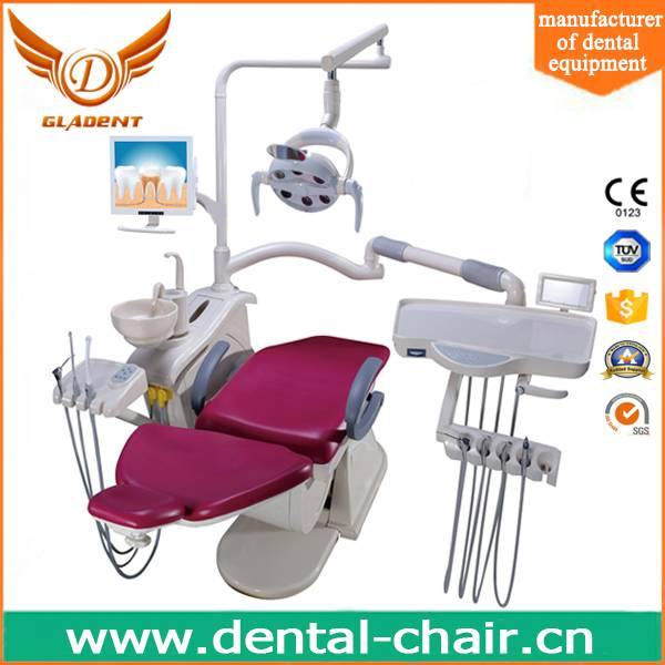 High quality ISO and CE approved leather cushion dental chair with LED sensor light