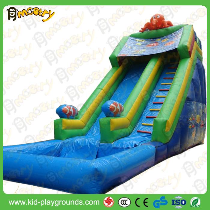 china low price high quality garden inflatables slides cheap inflatable dry slides for child for par