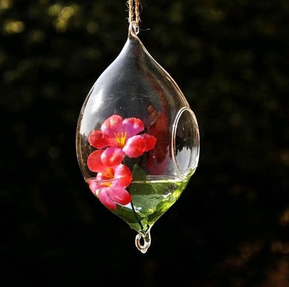 Christmas gift Christmas decorations hanging glass terrarium hydroponic plant vase