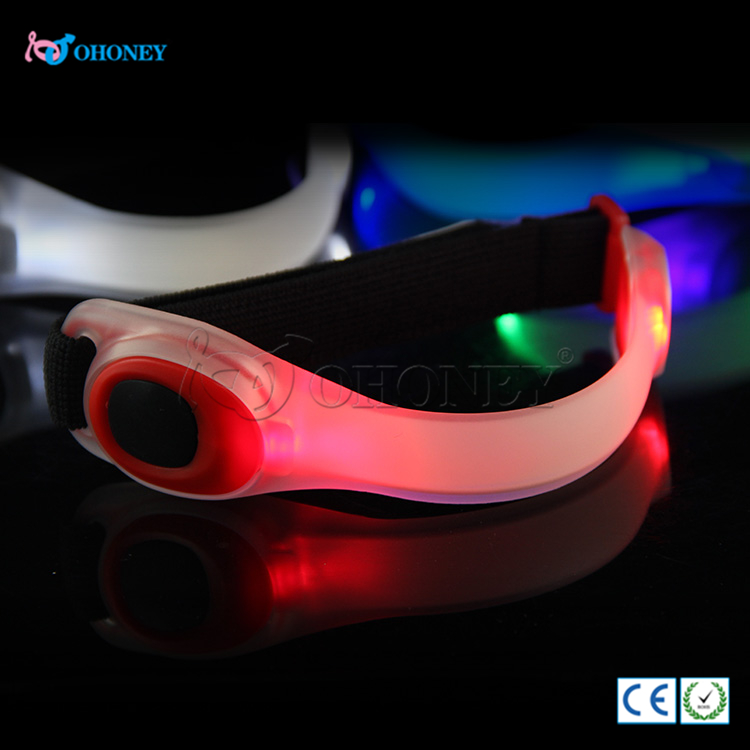 Newest led light up glow arm band for running at night Sports Running LED Safety Arm band