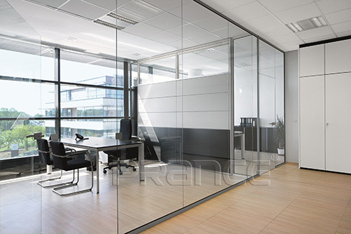 office building Single Glass Partition