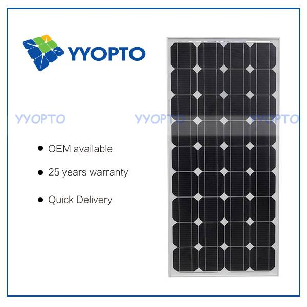 Mono solar panel 100W for many types solar system use