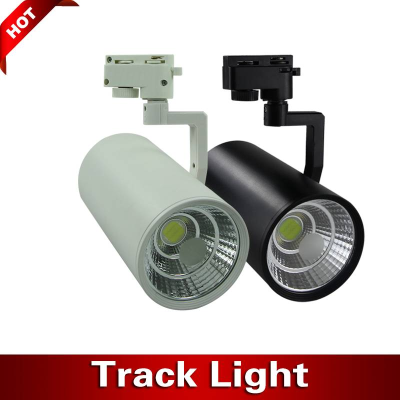 COB 30W 220V LED Track Lighting 24 Degree Adjustable 2 3 4 Wire