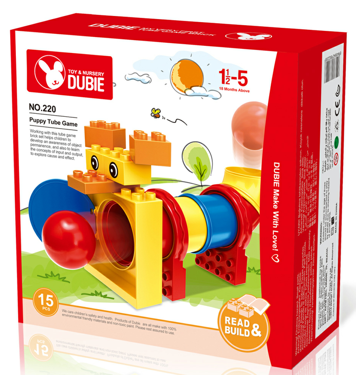 Tube piping game brick toys young children