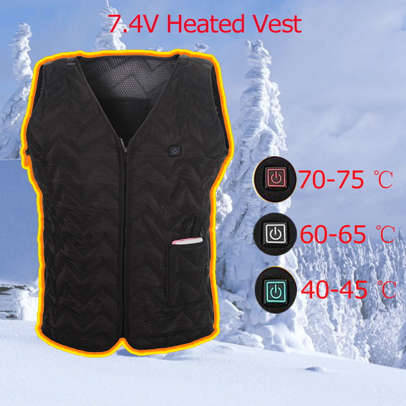China OEM Men's Winter Battery Carbon Fiber Heating Vest