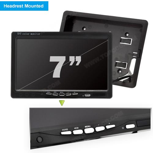 7inch Headrest TFT LCD Digital Monitor (TOP-007D)