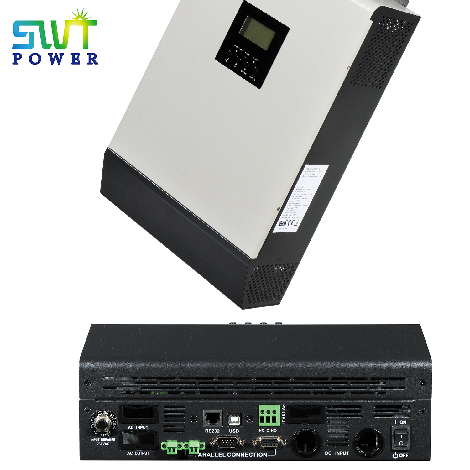 5000w/5kva Off-grid Mppt 80A 48VDC Solar Power Inverter with Parallel Kit Optional