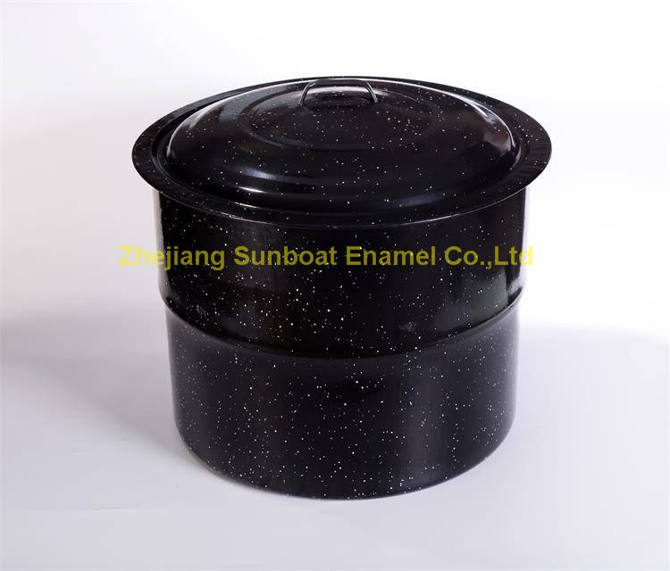 Large capacity 33QT enamel stock pot