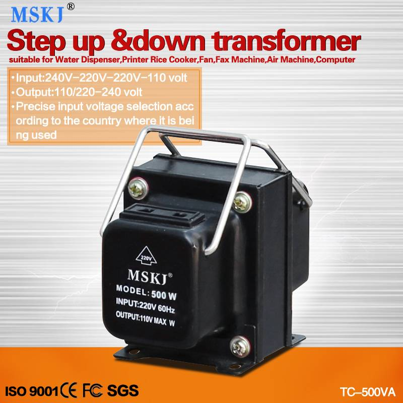 2015 hot sale transformer 110V to 220V step up transformers