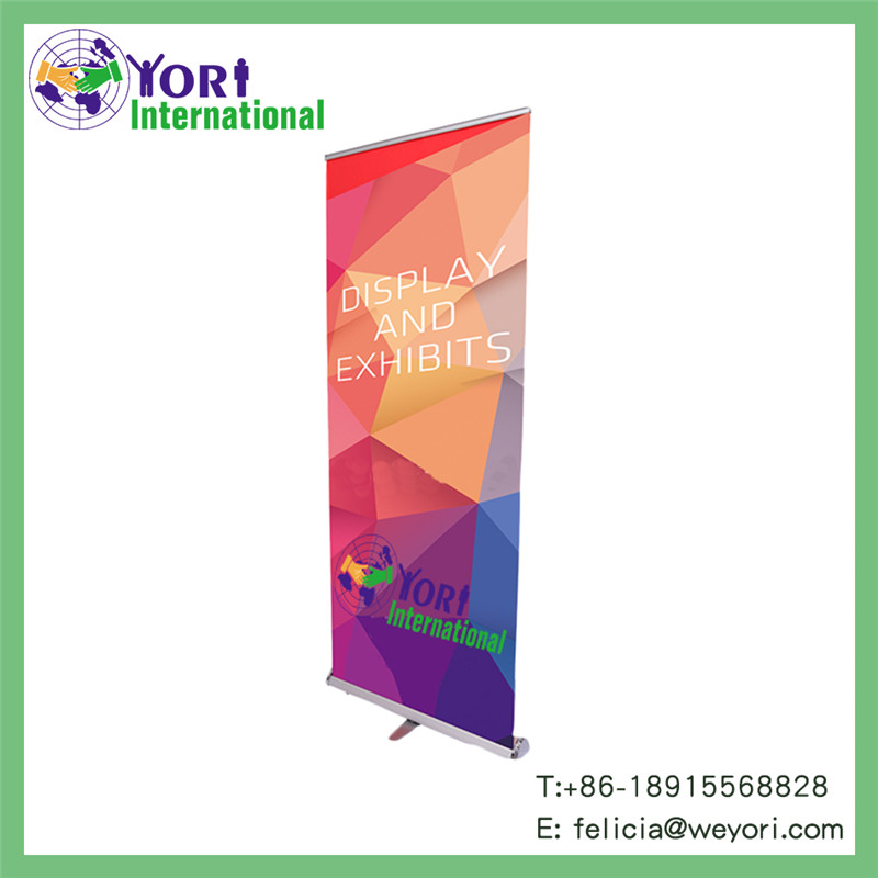 Yori aluminium supermarket display roll up banner stand