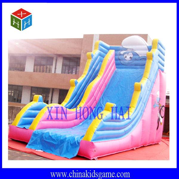 KI-XHH2031 High quality outdoor funny cute pink inflatable slide