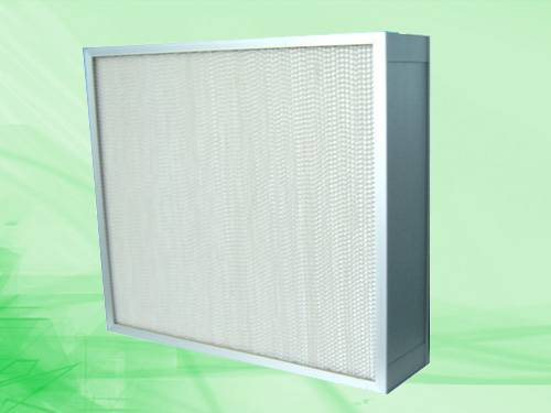 Heat-resistance Deep-pleated high efficiency filter