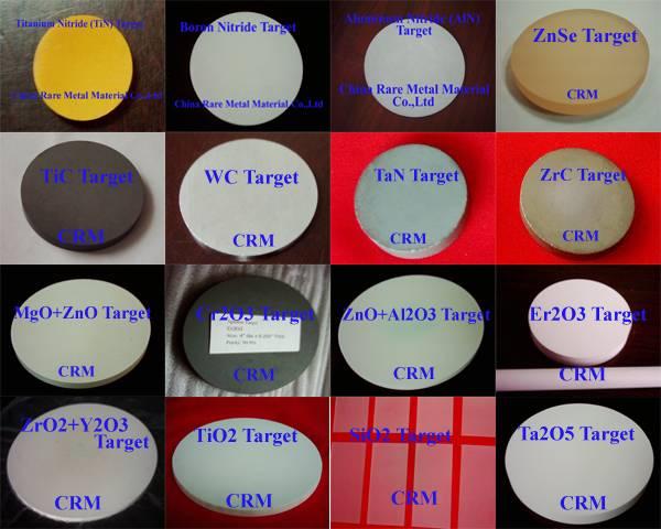 Ceramic (Boride,Carbide,Fluoride,Oxide,Selenide,Silicide, Sulfides,Tellurides)Sputteirng Target