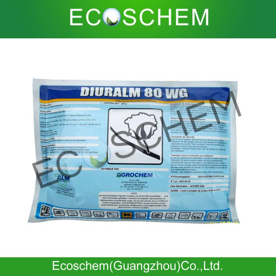 Agrochemical Herbicide Diuron 80% WDG/ WP for weed control