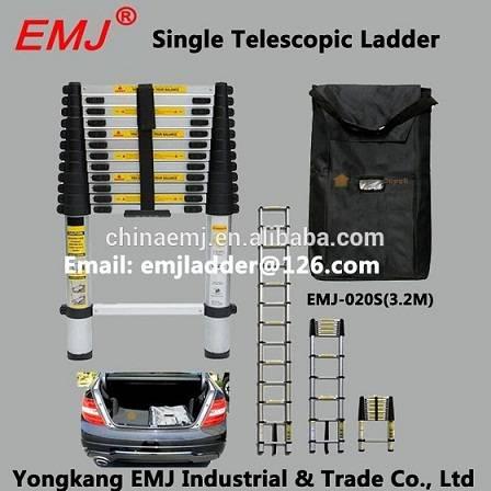 EMJ 3.2m single telescopic ladder