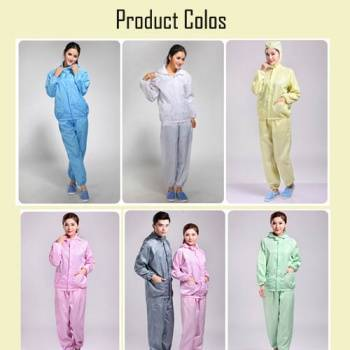 100%polyester ESD cleanroom garment