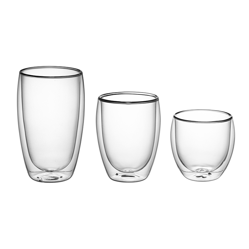 Classic Designs Double Wall Glass Cup 250ml 350 ml 450ml