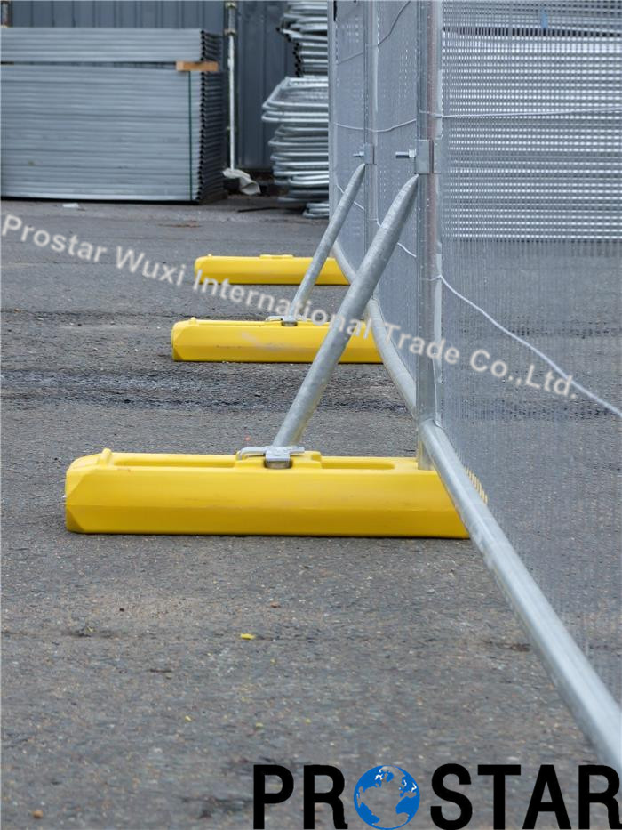 Australian Construction Temporary Fence with Plastic Base