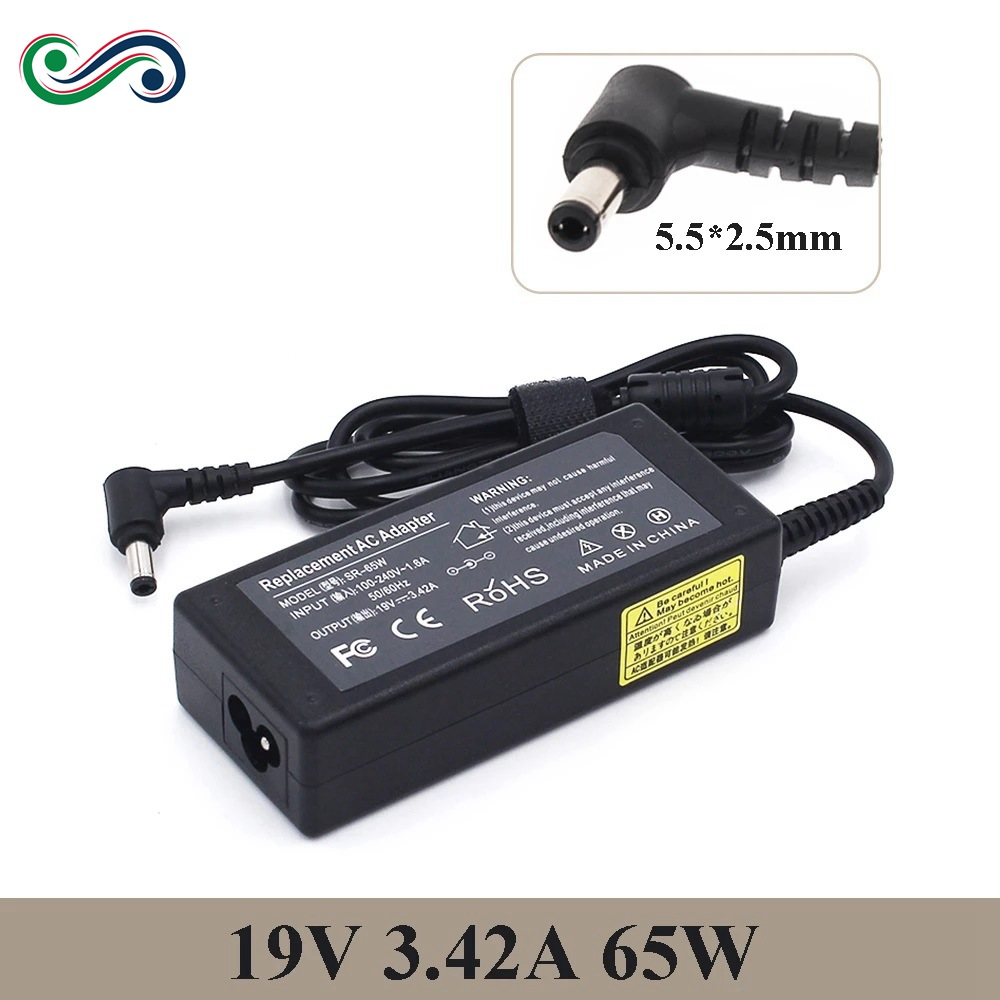 19V 3.42A 65W 5.5X2.5mm AC Charger Laptop POWER adapter ADP-65DW For ASUS x450 X550C x550v w519L