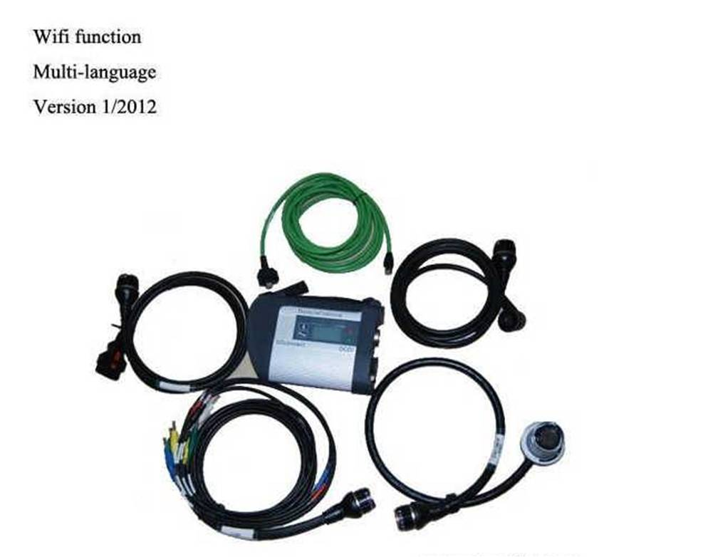 SD Connect C4 with DIS SSS WIS software for MB Benz