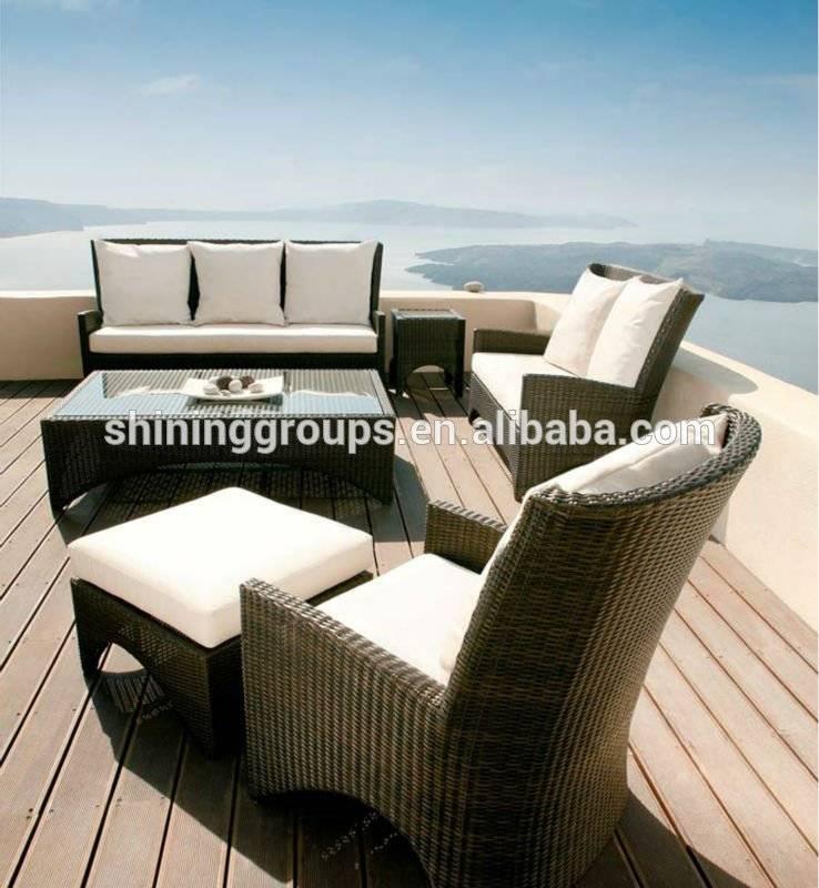 Hotel Patio furniture in rattan/wicker Garden sofa C253
