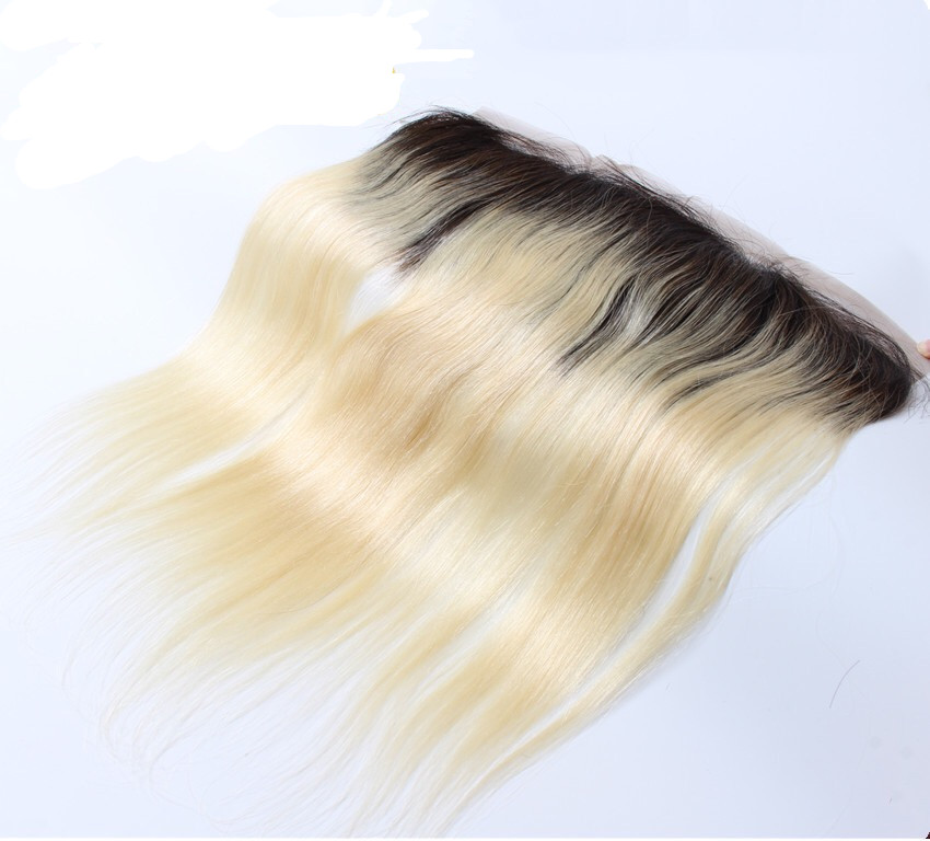 LEDON 13x4 Lace Frontal, Straight ST, Color 1B/613, 100% Human Hair Extension