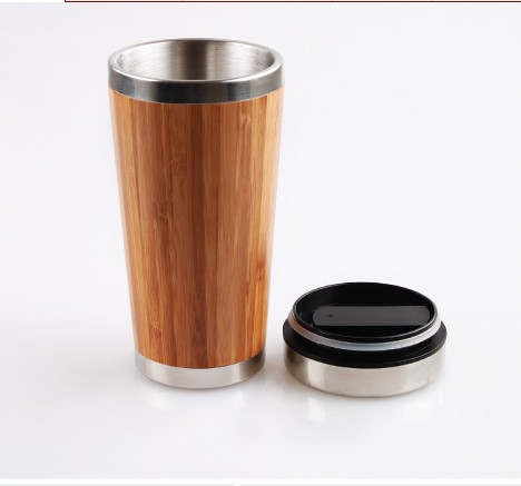 Eco Drinkware GB8020 Stainless Steel & Bamboo Coffee Mug Premium Bamboo Travel Coffee Mug,Coffee Cup